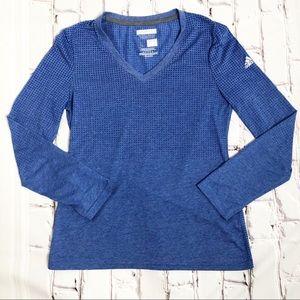 Adidas blue aeroknit long sleeve size large